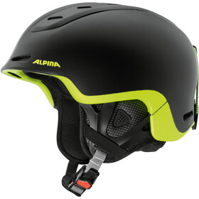 Alpina Spine Casco da sci, black-neon-yellow matt